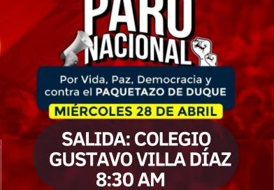 El 28 de abril se para por la vida y la democracia